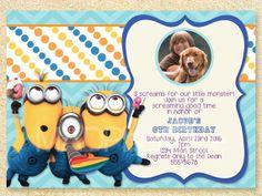 Despicable Me Birthday Invitation Minions invite by MadPhotoge, $15.00
