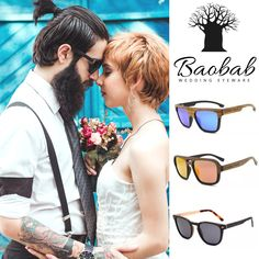 Wedding Package of 6 pairs of sunglasses wit your own text on the side for your bridal party! Wooden Sunglasses, Sunglasses Women, Bridesmaids And Groomsmen, Men's Collection, Eyewear, Pairs, Bridal, Amazing, Wedding