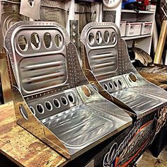 Seat: I want to do a bomber-style aluminum seat like this
