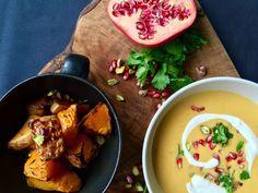 Heartwarming colourful butternut squash soup