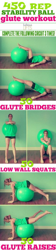 450 Rep Stability Ball Glute Workout