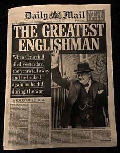 THE GREATEST ENGLISHMAN ~ Death of Sir Winston Churchill, Daily Mail 25 Jan 1965