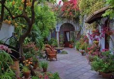 Un patio à Cordoue (Andalousie)