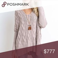 🌸 Cable Knit V-Neck Sweater🌸 ❗️LAST ONE❗️ We are definitely crushing on this V-Neck Cable Knit Sweater! Love the details that include the nice oversized hang, as well as handkerchief side vent detailing. I only have one of each size! Claim yours Now! Sweaters V-Necks