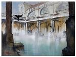 aquae sulis by Thomas W. Schaller Watercolor ~ 15 inches x 20 inches