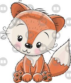 brown and white fox illustration, Fox Cartoon Cuteness Illustration, Hand painted red fox transparent background PNG clipart Cute Animal Drawings Kawaii, Cartoon Drawings, Cute Drawings, Kids Cartoon Characters, Lion Illustration, Baby Clip Art, Fox Girl, Cute Fox, Cute Images