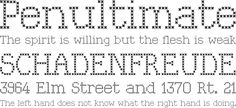 Kingthings Xstitch Font Phrases