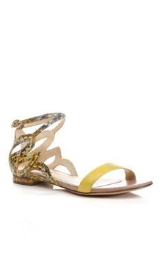 Yellow Radisha Sandal by Alexandre Birman - Moda Operandi Beach Wedding Shoes, Alexandre Birman, Top Shoes, Flat Sandals, Designer Shoes, Ankle Strap, Footwear, Fancy, Yellow