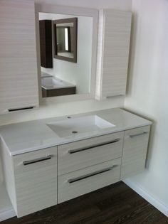 Bathroom,Captivating Floating Bathroom Vanity Ideas With Modern Mirrors And  Wall Mounted White Cabinet Feat Soap Storage Inspirations,Captivating  Bathroom ...