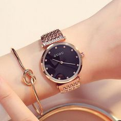 >> Click to Buy << Luxury GUOU Bling Rose Gold Crystal Bracelet Quartz Wristwatches Wrist Watch for Women Ladies NO FADE 3 Year Warranty #Affiliate