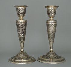 Pair of persian candlesticks ( Esfahan )