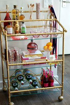 A Bar Cart in Brooklyn | Monica Stolbach's Bar Cart www.abarcartinbrooklyn.com