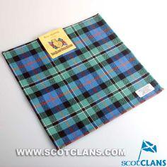 Clan Rose Hunting Ancient Tartan Handkerchief