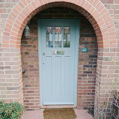 Front And Entry Doors For Your House – The Homeward View Cottage Front Doors, Oak Front Door, Grey Front Doors, Front Door Porch, Beautiful Front Doors, Exterior Front Doors, Painted Front Doors, House Front Door, Entry Doors