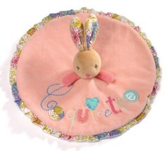 Kaloo Bliss Doudou Rabbit, Round Their flat design allows them to be drawn in close to an infant embrace. Packed in round Kaloo keepsake box. Machine washable and dryable.  #Kaloo #Baby_Product