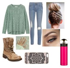 """""""Kaykay"""" by dawn82-1 ❤ liked on Polyvore featuring Steve Madden, Frame Denim, Toast, New Look and Prada"""
