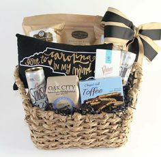 Made in North Carolina goodies fill this gift basket