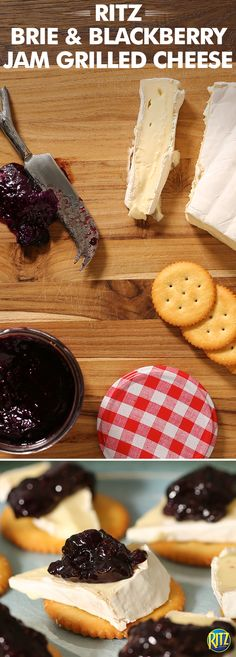 Blackberry jam brings delicious sweetness to these RITZ Cracker Blackberry Jam & Brie Bites. Top an Original RITZ with a slice of brie cheese and a dollop of sweet blackberry jam for a treat that is ideal for a summer afternoon on the porch.