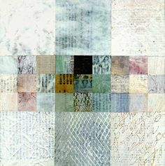 Janet Jones Hidden Meanings #5 Collage of hand-printed, found and prepared…