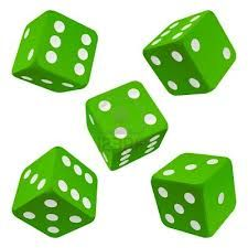 Color Verde Lima - Lime Green!!! Dices