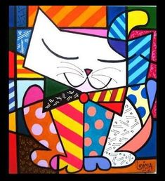 Romeo Britto is a Brazilian artist, painter and sculptor born in Recife on October His work presents elements of pop art, cubism and graffiti. Pintura Graffiti, Graffiti Painting, Graffiti Art, Arte Pop, Painting For Kids, Art For Kids, Art Fantaisiste, Cubism Art, Elements Of Art