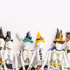 Read through how to make your own custom skeleton family just in time for Halloween. Customize them however you want!