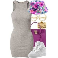 A fashion look from November 2014 featuring NLY Trend dresses, MICHAEL Michael Kors tote bags and Juicy Couture bracelets. Browse and shop related looks. Dope Fashion, Fashion Moda, Fashion Killa, Urban Fashion, Teen Fashion, Fashion Looks, Fashion Outfits, Womens Fashion, Fashion Trends