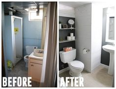 Basement Bathroom Remodel, They redid every room of this house on their own! www.BrightGreenDoor.com