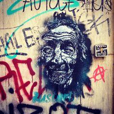 Vieillard - Bustart #streetart #streetartist #bustart