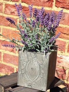Grey embossed planter