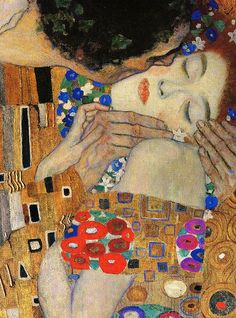 Detail of Gustav Klimt's, The Kiss. One of my favorite paintings of all time.