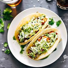 Spicy Shrimp Tacos with Garlic Cilantro Lime Slaw ---> recipe: click the direct link in my profile. Hurry.  #tacotuesday #f52grams #feedfeed #shrimp #realfood #instagood #buzzfeedfood #thekitchn #Padgram