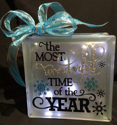 A personal favorite from my Etsy shop https://www.etsy.com/listing/211078880/holiday-decor-handmade-glass-block-light