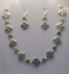 Silver Carved Disk 18 inch Necklace & Earrings Set for sale at PSP Unique Jewelry @etsy.com Gemstone Jewelry, Unique Jewelry, Beautiful One, Psp, Earring Set, Carving, Gemstones, Bracelets, Silver