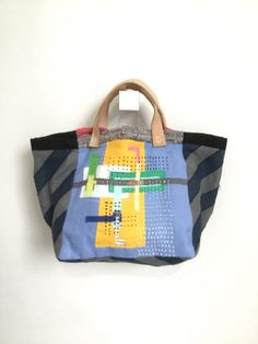 Three Feathers Multi Tote Bag by Terry Fan 18 x 18in