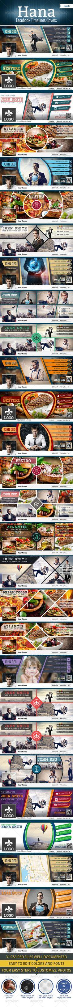 Bundle - Hana Facebook Timelines Covers - Facebook Timeline Covers Social Media