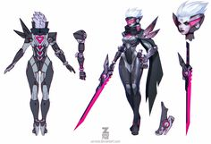 Here are the concept artists I worked with Miss Fortune - Charles Liu Soraka - Jesse Li Syndra - concept iterations and ingame shot by Steven Zheng, Final Concept by Paul Kwon Ezreal - Simon Dubuc All Familiars - Gem Lim Copyright - Riot Games