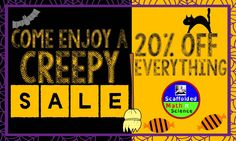 Well, not THAT creepy! :) 10/31/15 sale - 20% off everything.