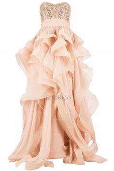 A-Line/Princess Sweetheart Chiffon Sweep/Brush Train Evening Dresses - IZIDRESSES.COM at IZIDRESSES.com