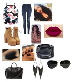 """""""Untitled #121"""" by goofystar ❤ liked on Polyvore featuring George, Givenchy, GUESS, ABS by Allen Schwartz and Ray-Ban"""