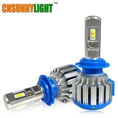 Super Bright Car Đèn Pha H7 LED H8/H11 HB3/9005 HB4/9006 H1 70 Wát 7000lm Tự Động phía trước Bóng Đèn Ô Tô Đèn Pha 6000 K Chiếu Sáng Xe
