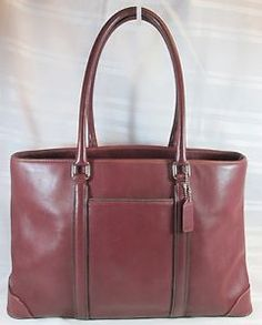 COACH-RED-LEATHER-LARGE-TOTE-BAG-VERY-GOOD-CONDITION-FREE-SHIPPING-CHECK-PICS