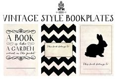 Benign Objects: Free Printable Vintage Bookplates. Would be great to give a set to a bibliophile friend.