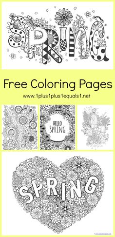 """We have a brand new set of <strong> Spring Doodle Coloring </strong> printables. These are great for adults who like to color as well as children. The idea behind """" <em class=short_underline> Just Color! </em> """" is simple ~ theme packs all focused around coloring. The coloring pages are all in one download to make it easier to download and print all at once, in case you have coloring monsters like I do! If you want to make a mini coloring boo..."""