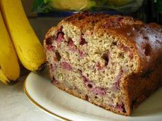 Strawberry Banana Oat Bread