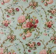 flower cotton fabric AMBERLEY Colefax & Fowler