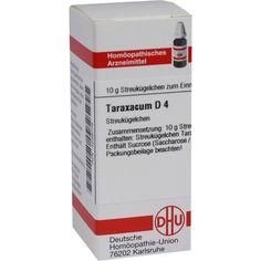 TARAXACUM D 4 Globuli:   Packungsinhalt: 10 g Globuli PZN: 04239778 Hersteller: DHU-Arzneimittel GmbH & Co. KG Preis: 5,50 EUR inkl. 19 %…