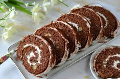 Kókuszkrémes tekercs 🍴 Cake, Desserts, Food, Tailgate Desserts, Deserts, Kuchen, Essen, Postres, Meals