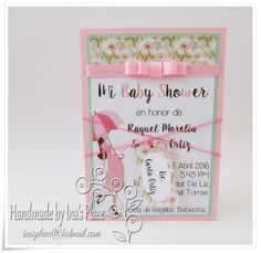 """Personalised Handmade Congratulations on your Baby Bump Card  /""""Flower Power/"""""""