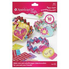 American Girl Crafts - Paper Chain Friendship Bracelets Activity